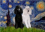 STARRY NIGHT<br> & 2 Poodles