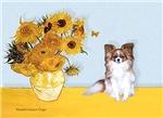 SUNFLOWERS<br>& Fawn Papillon
