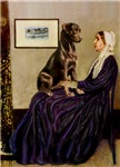 WHISTLER'S MOTHER<br>& Chocolate Labrador Retrieve