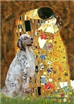 THE KISS<br> & English Setter