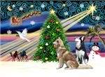 CHRISTMAS MAGIC<br>& 2 Siberian Huskies