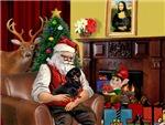 SANTA AT HOME<br>& his Black Dachshund