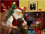 SANTA AT HOME<br>& Chocolate Labrador