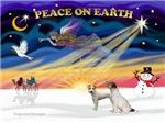 CHRISTMAS SUNRISE<br>& 2 Jack Russel Terriers
