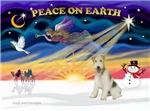 CHRISTMAS SUNRISE<br>& Fox Terrier (wire)