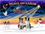CHRISTMAS SUNRISE<br>& 2 Border Collies