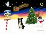 CHRISTMAS SIGNS<br>& Border Collie