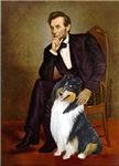 ABRAHAM LINCOLN<br>& Tri Colored Collie