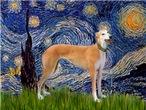 STARRY NIGHT<br>& red Greyhound