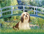 LILY POND BRIDGE<br>&Lhasa Apso #4