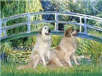 LILY POND BRIDGE<br>& Two Great Pyrenees'