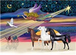 Three Arabian Horses<br>in