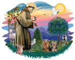 Saint Francis &<br>Two Yorkshire Terriers