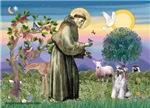 St. Francis<br>& Miniature Schnauzer