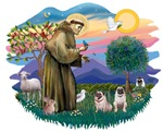 St. Francis #2 &<br>Pugs (2 fawn)