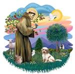 St. Francis #2 &<br>Tibetan Terrier (cream-brown)