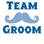 Moustache Team Groom T-shirts and Favors