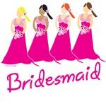 Pink Bridesmaid T-shirts and Gifts