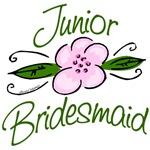 Pink Flower Junior Bridesmaid T-shirts, Gifts