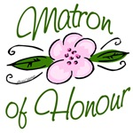 Pink Flower Matron of Honour T-shirts, Gifts