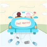 Just Married Shower Curtain, Gifts, Decor