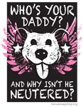 Who's Your Daddy Wings - Pink