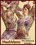Maud Arizona Vintage Tattooed Lady Print
