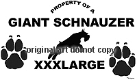 Property of a Giant Schnauzer