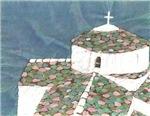 Whitewashed Church, Greece.