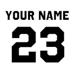 Customize sports jersey number