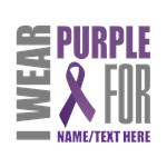 Purple Awareness Ribbon Customized