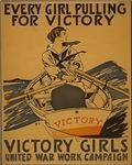 Vintage - Women rowing for the war effort