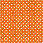 Orange With White Polka-dots