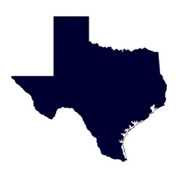 Navy Blue Texas Outline