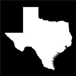 White Texas Outline