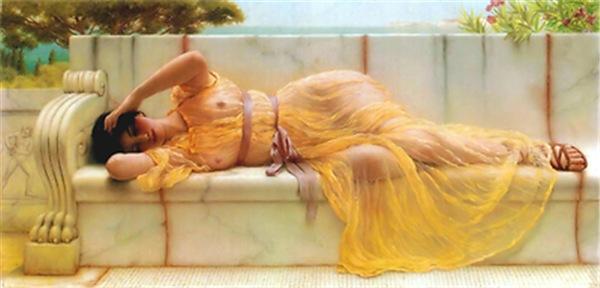 Godward - Girl in Yellow