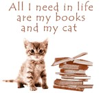 My cat and my books