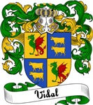 Vidal Family Crest, Coat of Arms