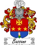 Bassano Family Crest, Coat of Arms