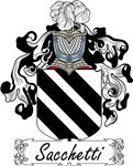 Sacchetti Family Crest, Coat of Arms