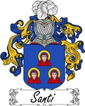 Santi Family Crest, Coat of Arms