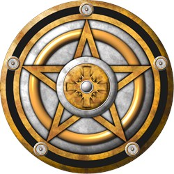 Gold Pentacle w/silver