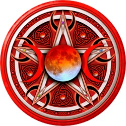 Red Triple Goddess Pentacle