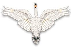 Beadwork Mute Swan