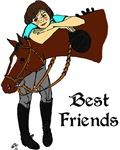Girl & Horse - English