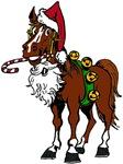 Santa Hat Horse
