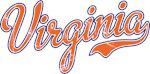 Virginia Script Orange VINTAGE