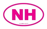 New Hampshire NH Euro Oval PINK