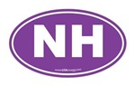 New Hampshire NH Euro Oval PURPLE