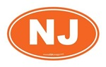 New Jersey NJ Euro Oval ORANGE